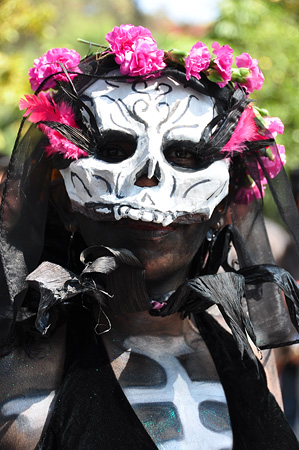 Woman with Catrina Mask