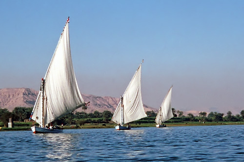 Felucca's breezing down the Nile