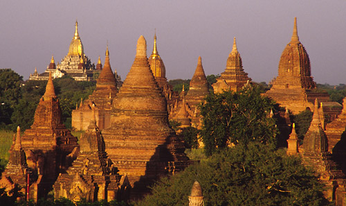 Bagan landscape littered with payas